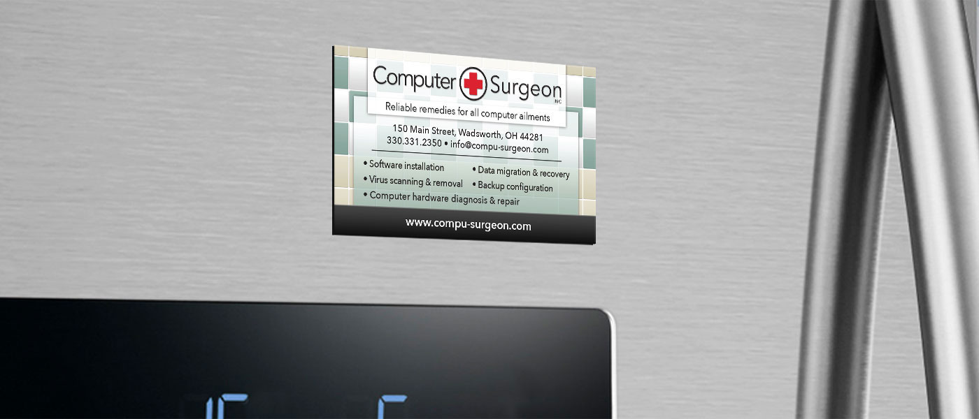 Computer Surgeon - Business Card Magnet
