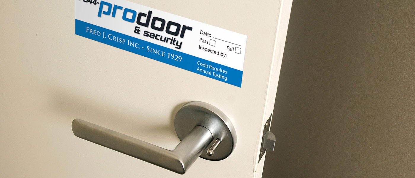 ProDoor & Security - Fire Door Sticker