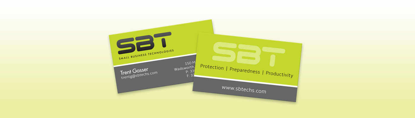 Small Business Technologies - Business Cards