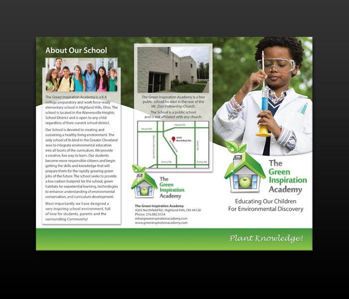 Green Inspiration Academy - Trifold Brochure