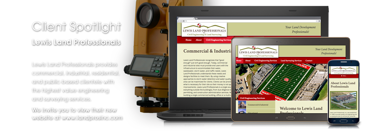 Client Spotlight - Lewis Land Professionals website launch