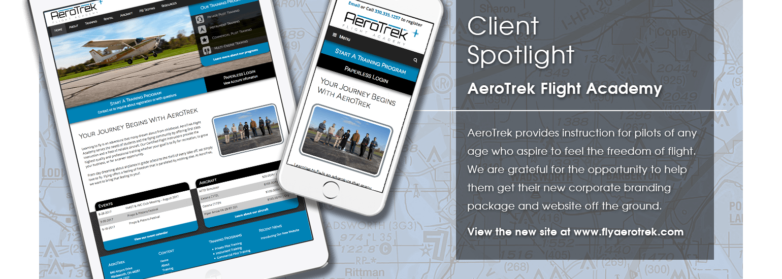 Client Spotlight - AeroTrek Flight Academy website launch