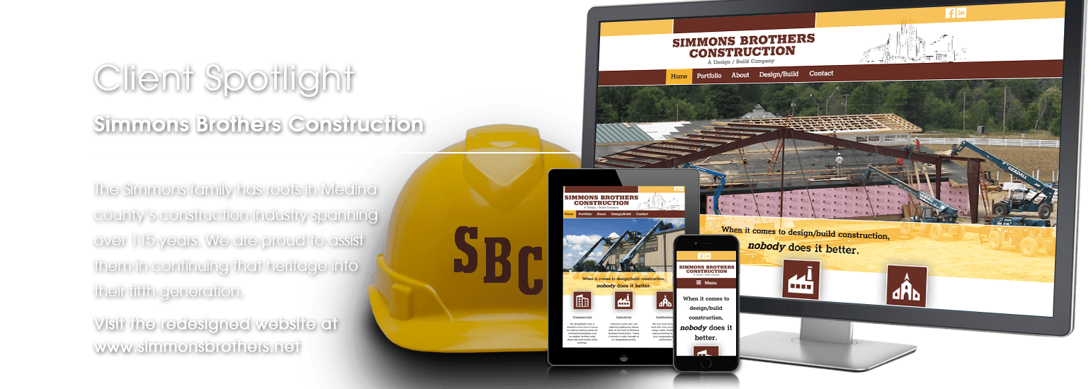 Client Spotlight - Simmons Brothers Construction website launch