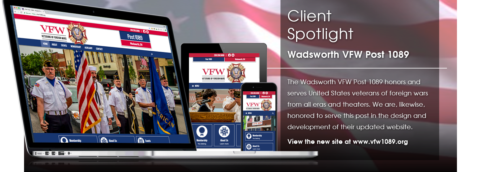Client Spotlight - Wadsworth VFW Post 1089 website launch