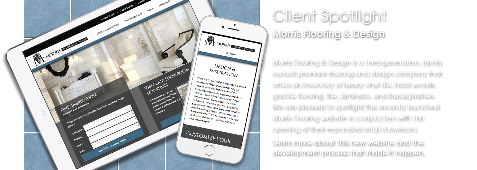 Client Spotlight - Morris Flooring & Design website launch