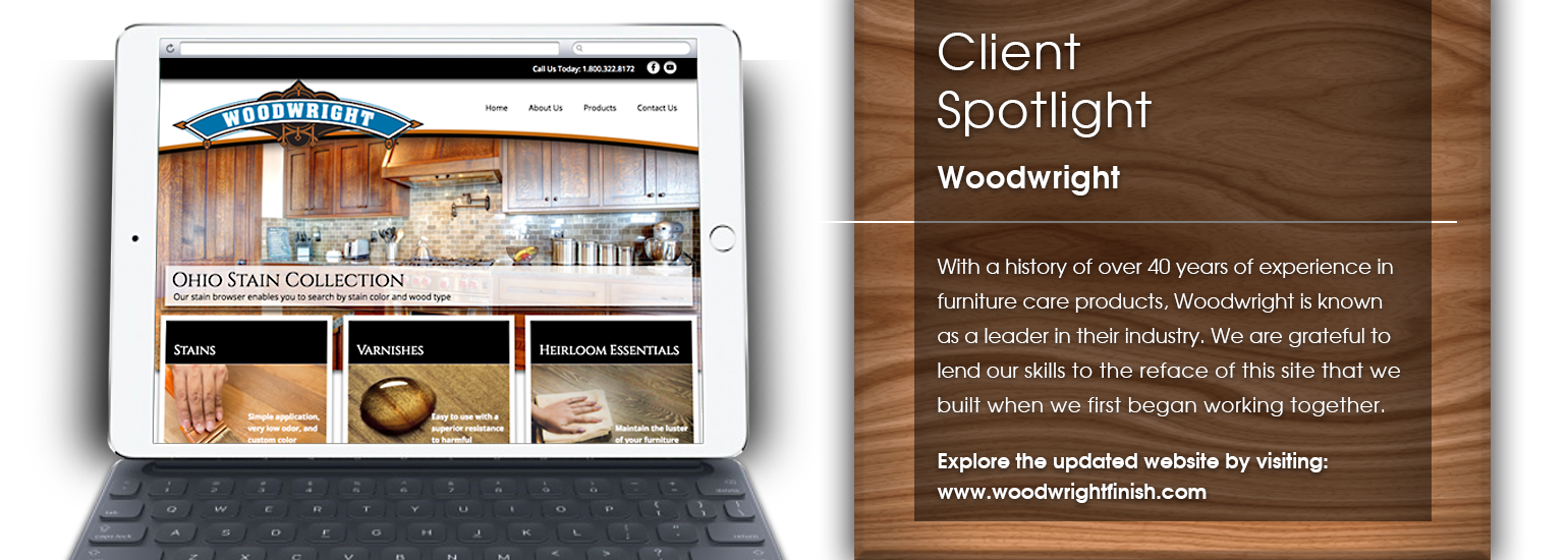 Client Spotlight - Woodwright website launch