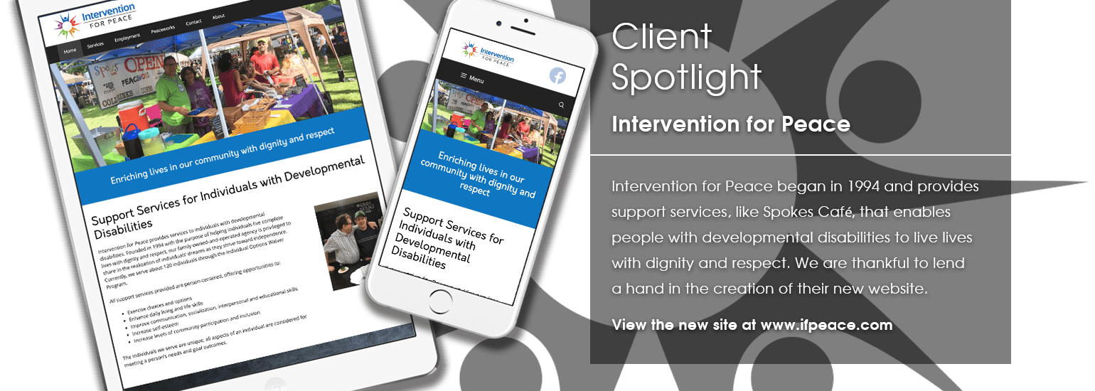 Client Spotlight - Intervention for Peace website launch