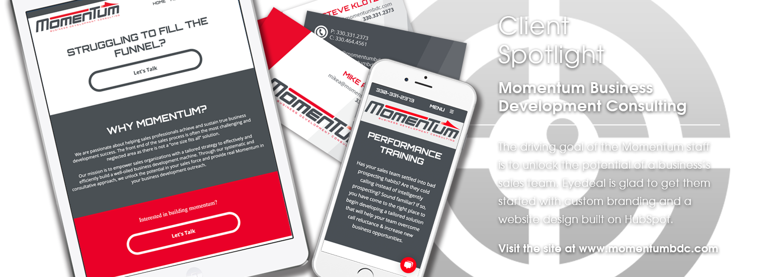 Client Spotlight - Momentum Business Development Consulting website launch