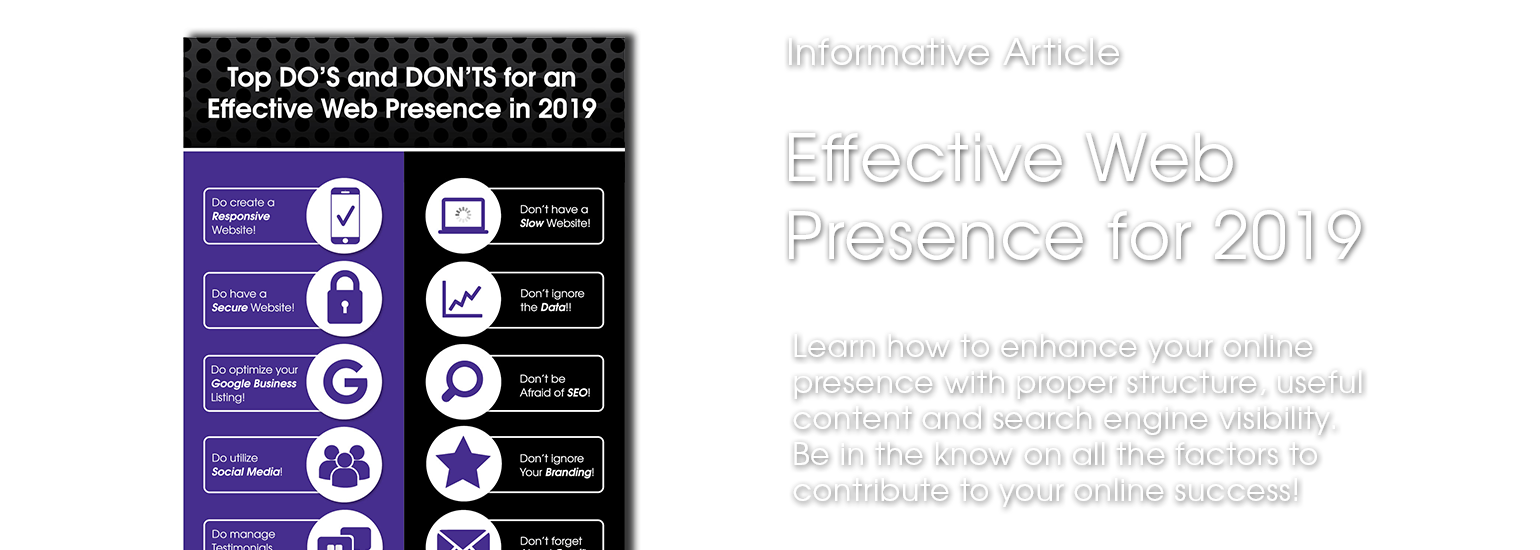 Effective Web Presence 2019 Eyedeal Article Feature