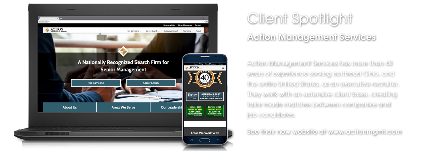 Client Spotlight - Action Management Services website launch